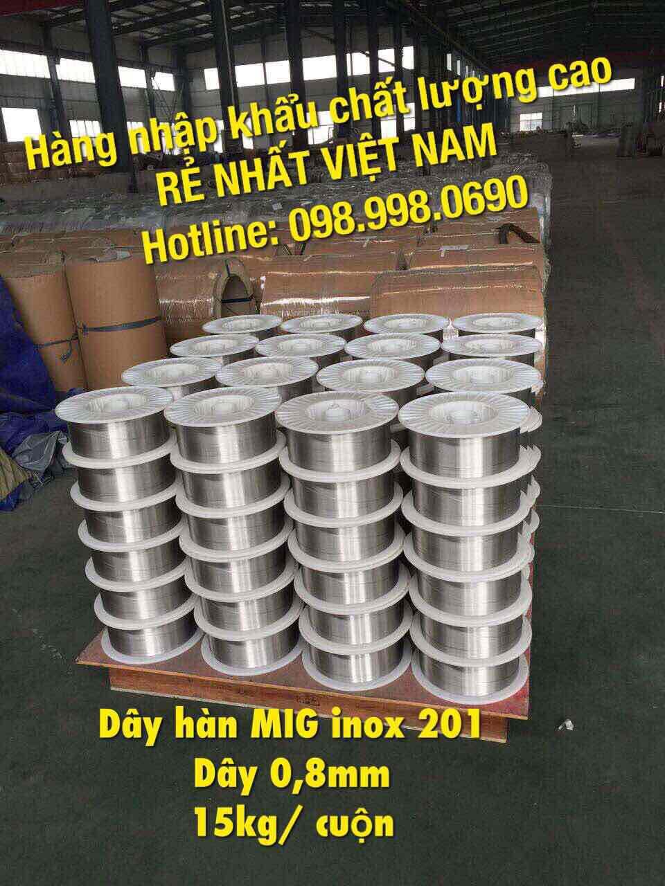 Dây hàn MIG INOX 201, dày 0,8mm