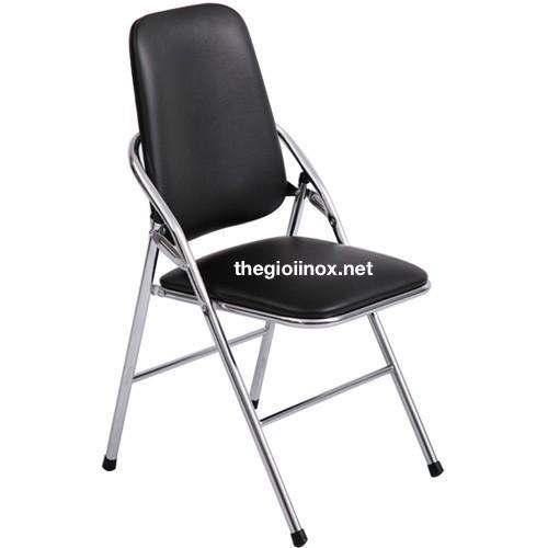 ghế tựa lưng gấp màu đen
