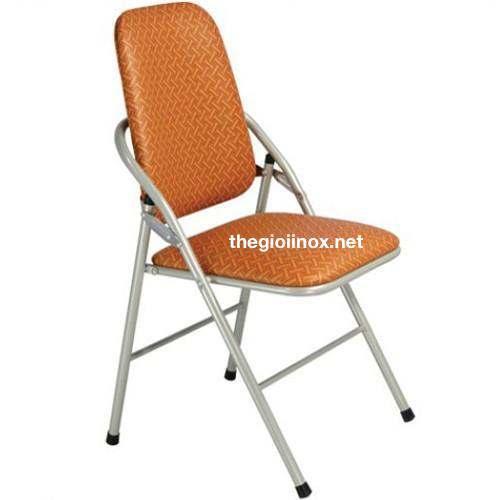 ghế tựa lưng gấp màu vàng